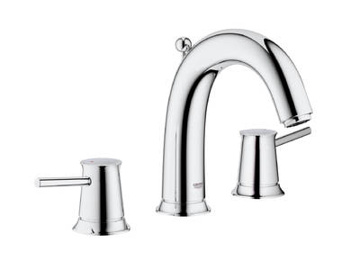 BauClassic 3-hole basin mixer