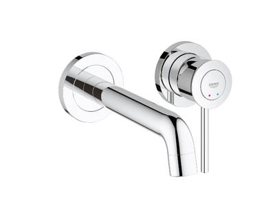 BauClassic 2-hole basin mixer