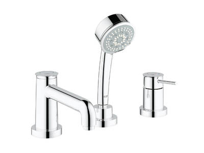 BauClassic 3-hole bath/shower combination