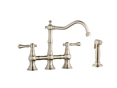 Bridgeford Bridge Faucet with Hose & Spray