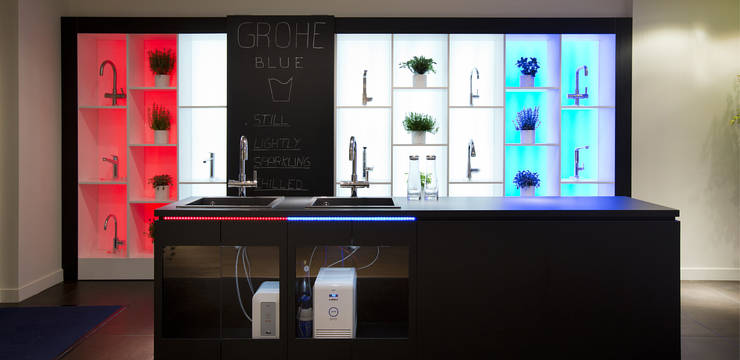 grohe new showroom in milan company news about grohe. Black Bedroom Furniture Sets. Home Design Ideas