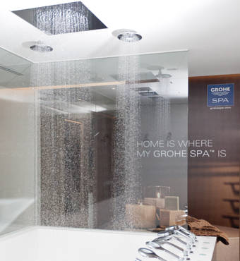 Lovely Bath Shower Tile Designs Small Bathroom Drawer Base Cabinets Solid Finland Steam Baths Quincy Mosaic Bathrooms Design Young Best Bathroom Tiles Design OrangeGray Bathroom Vanity Lowes GROHE   GROHE Live! Center Singapore   About GROHE
