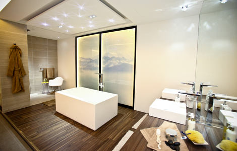 Pretty Bath Shower Tile Designs Small Bathroom Drawer Base Cabinets Square Finland Steam Baths Quincy Mosaic Bathrooms Design Young Best Bathroom Tiles Design SoftGray Bathroom Vanity Lowes GROHE   Sanitary: Bath And Kitchen Faucets, Showers And ..
