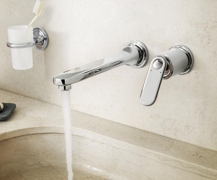 Veris 2-hole basin mixer