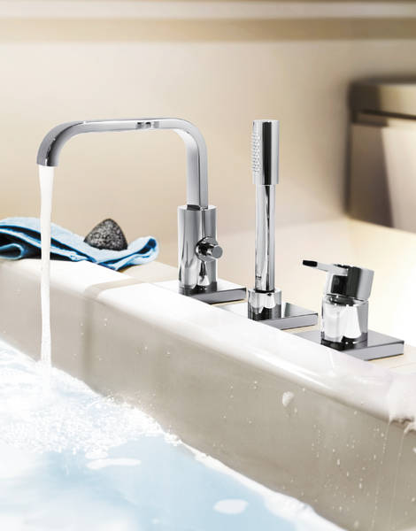 GROHE Allure Three-hole single-lever bath combination