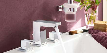 Eurocube 3-hole wash-basin mixer