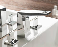 Allure Brilliant Three-hole basin mixer | Antonietty Architects AG, Switzerland
