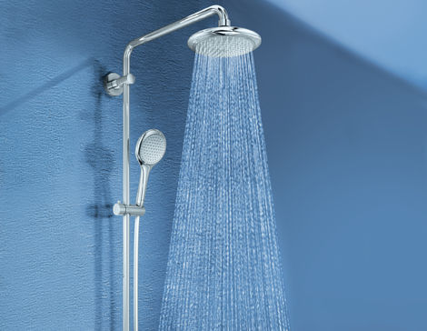 Rainshower Solo Shower system with diverter for wall mounting