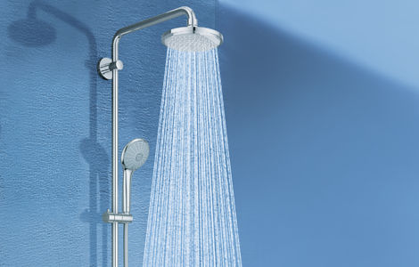 Euphoria Shower system with diverter for wall mounting