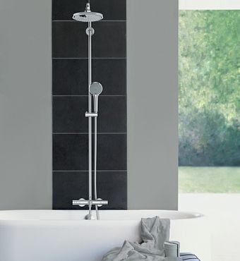 1  Exposed Valves   Exposed valves have always been the norm in Europe  now  in the U S  it is not only a design statement but makes for less expensive. GROHE   GROHE Euphoria and Shower Trends   Press releases 2014