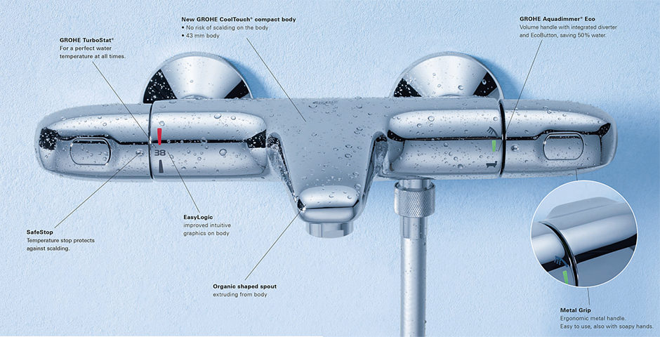grohe 1000 thermostatic bath shower mixer. top grohe 1000 thermostatic bath shower mixer g