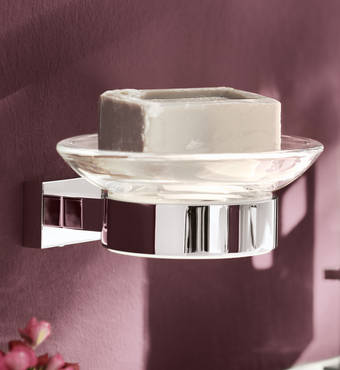Accessories Essentials Cube Soap Dish, Soap/Lotion Holder