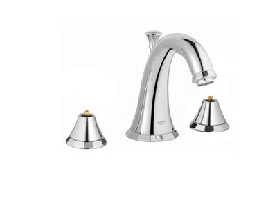 Kensington 3-hole basin mixer